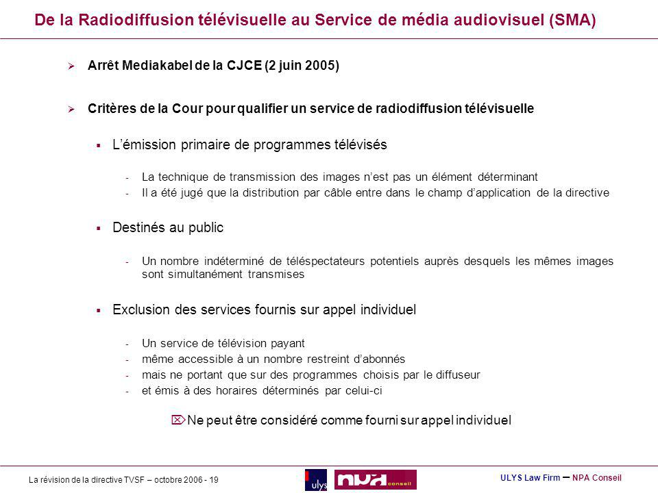 De la Radiodiffusion télévisuelle au Service de média audiovisuel (SMA)