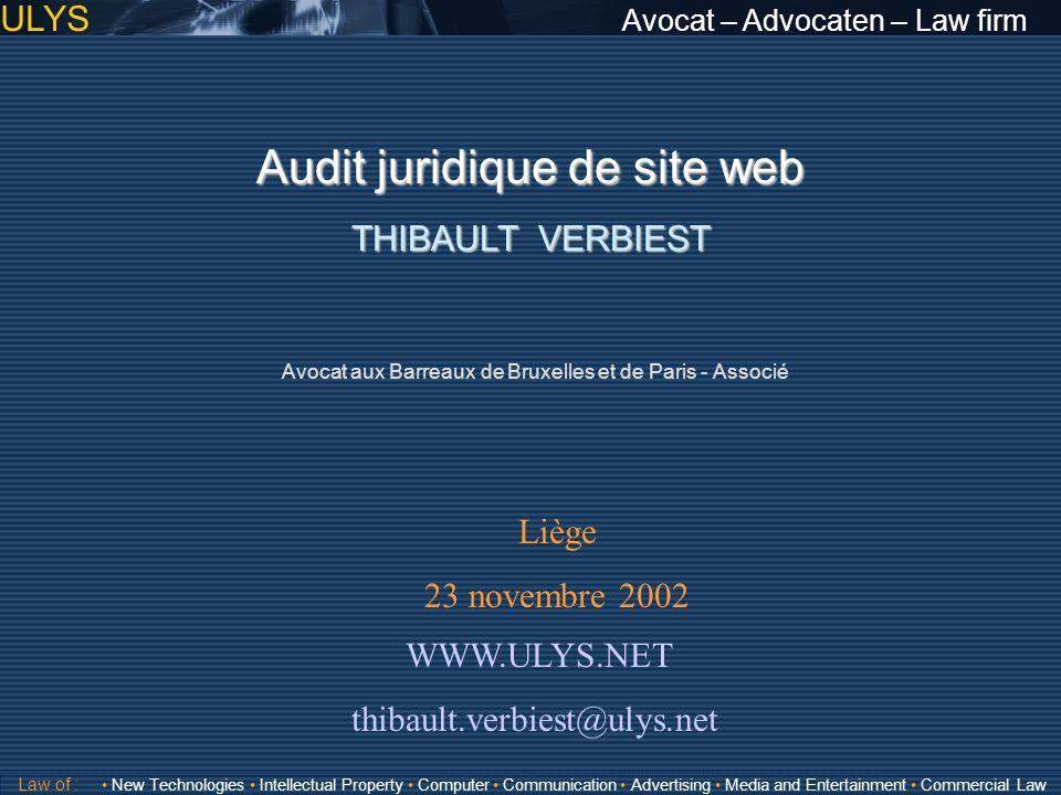 Audit juridique de site web