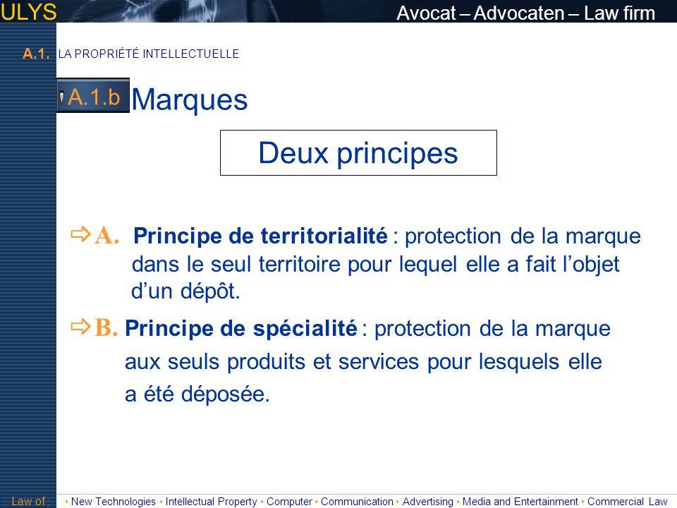 Marques Deux principes