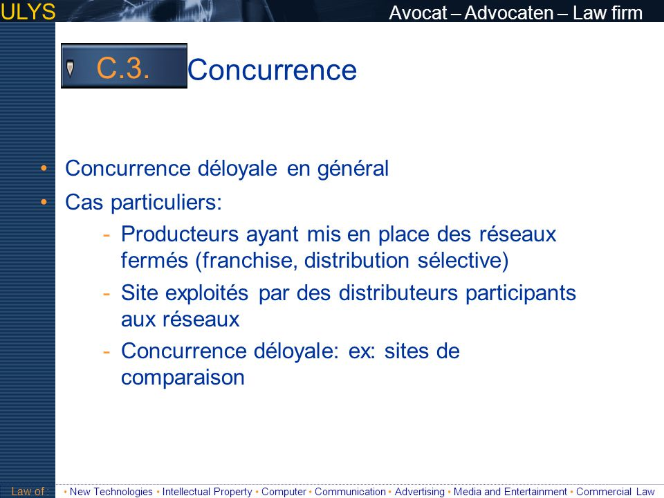 Concurrence C.3. ULYS Avocat – Advocaten – Law firm