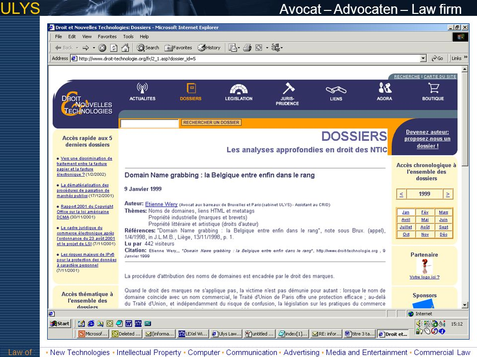 ULYS Avocat – Advocaten – Law firm