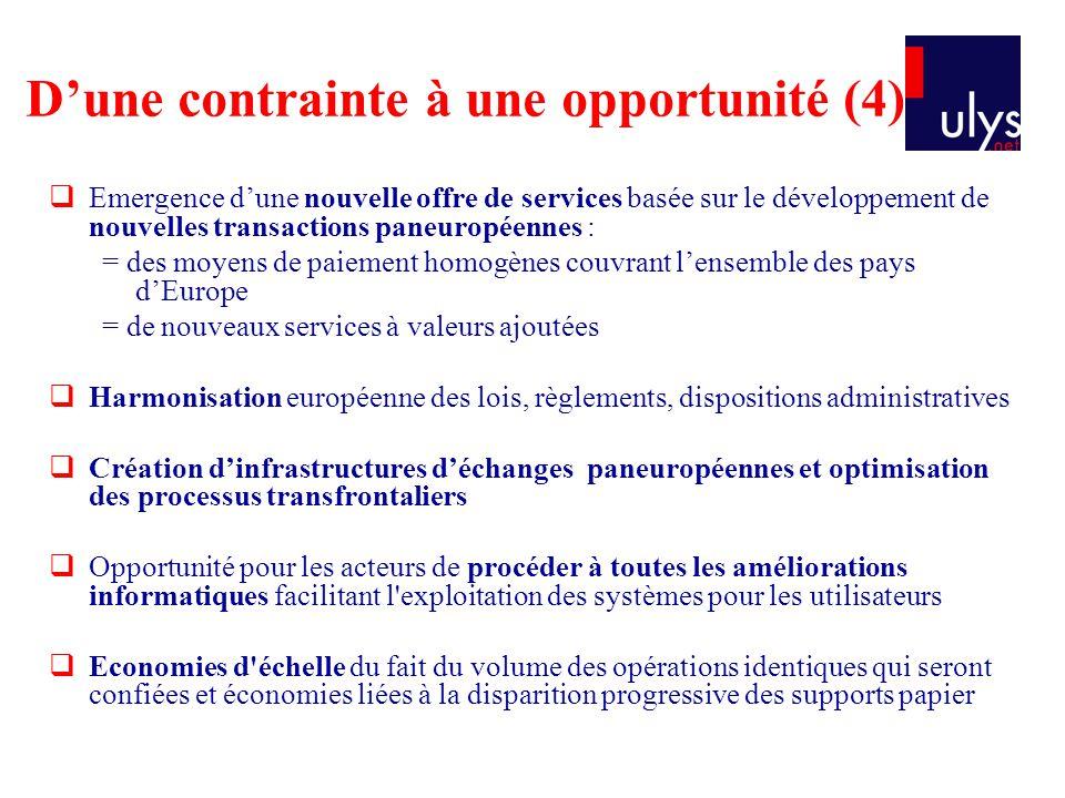 D'une contrainte à une opportunité (4)