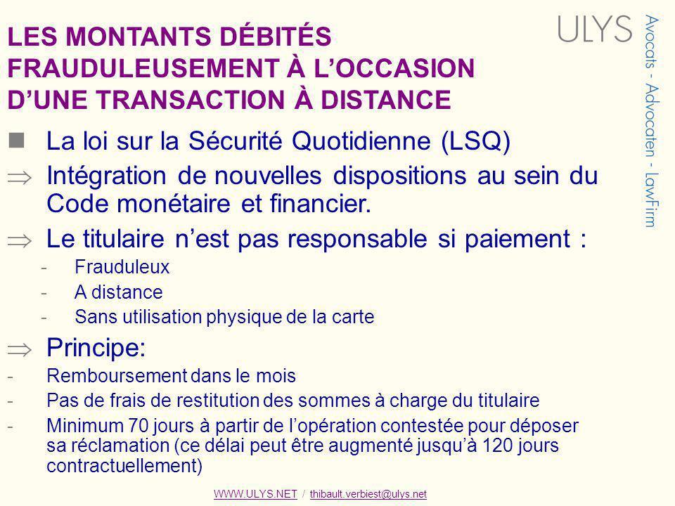 FRAUDULEUSEMENT À L'OCCASION D'UNE TRANSACTION À DISTANCE