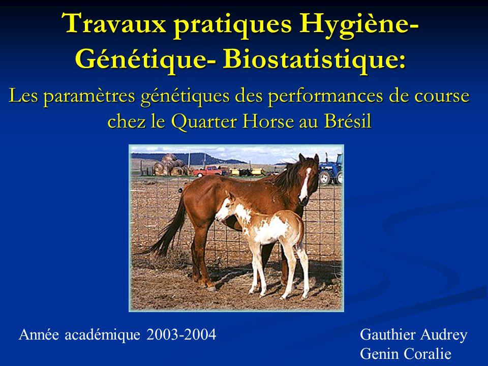 Travaux pratiques Hygiène-Génétique- Biostatistique: