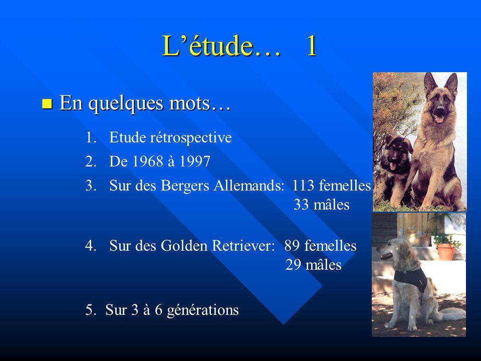 L'étude… 1 En quelques mots… Etude rétrospective 2. De 1968 à 1997
