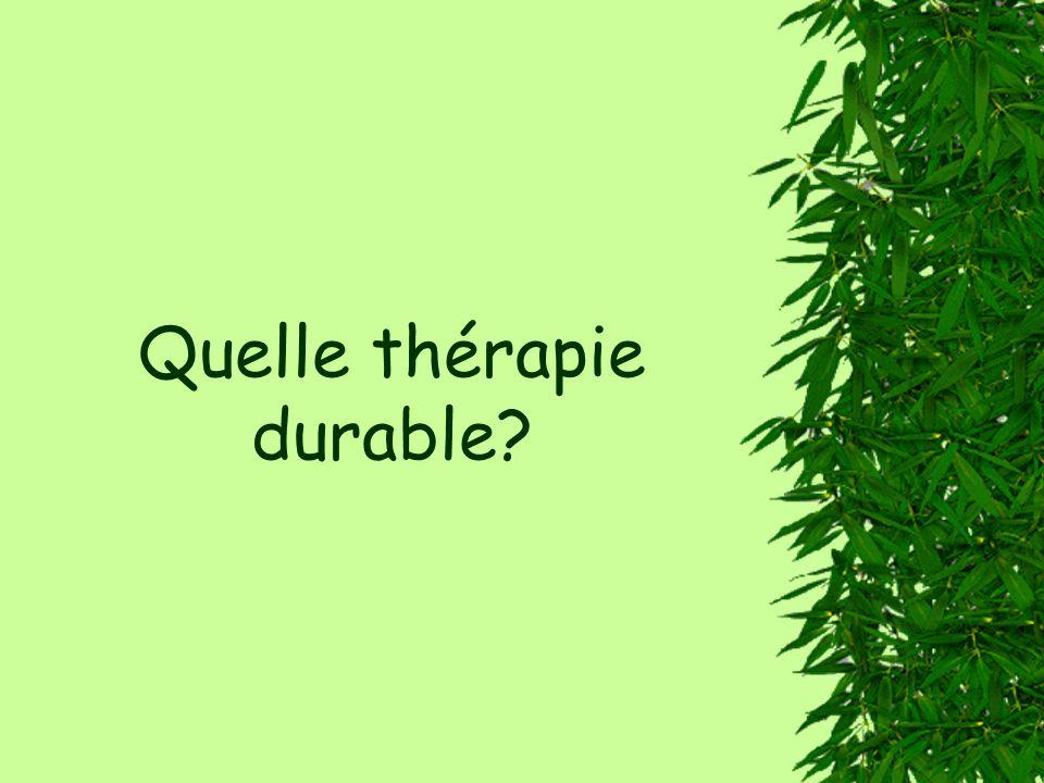 Quelle thérapie durable