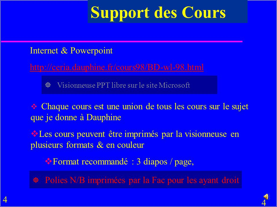 Support des Cours Internet & Powerpoint