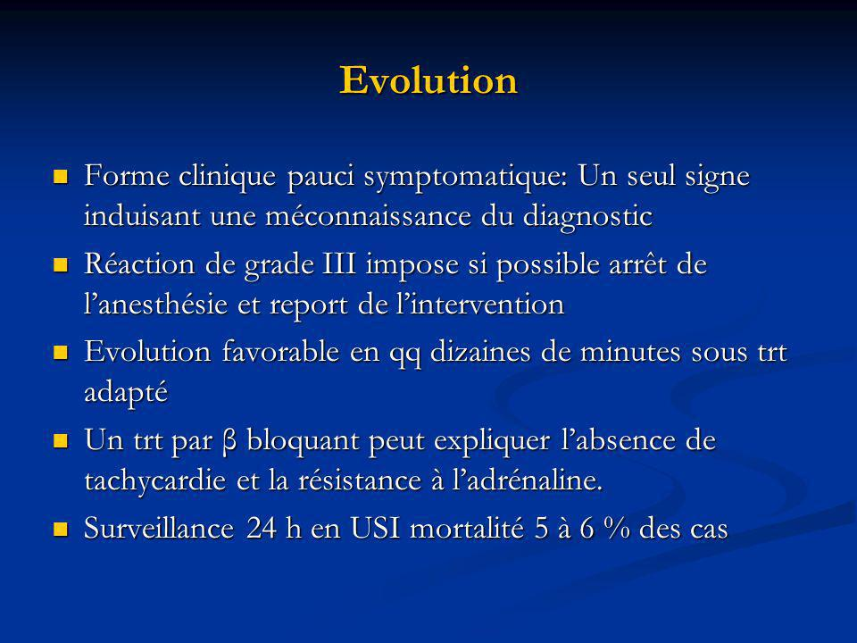 Evolution Forme clinique pauci symptomatique: Un seul signe induisant une méconnaissance du diagnostic.