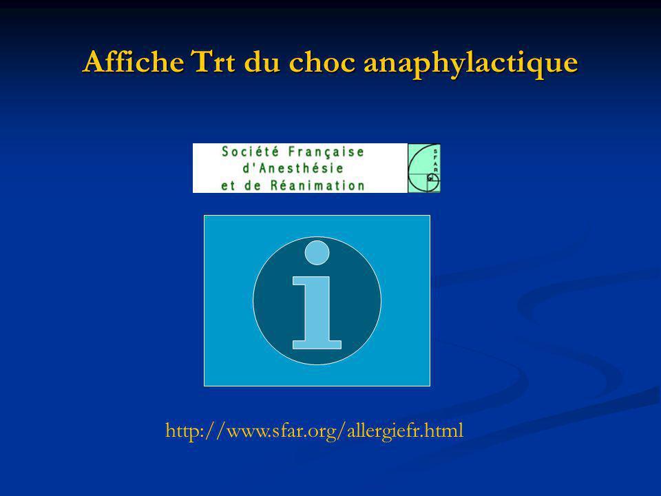 Affiche Trt du choc anaphylactique