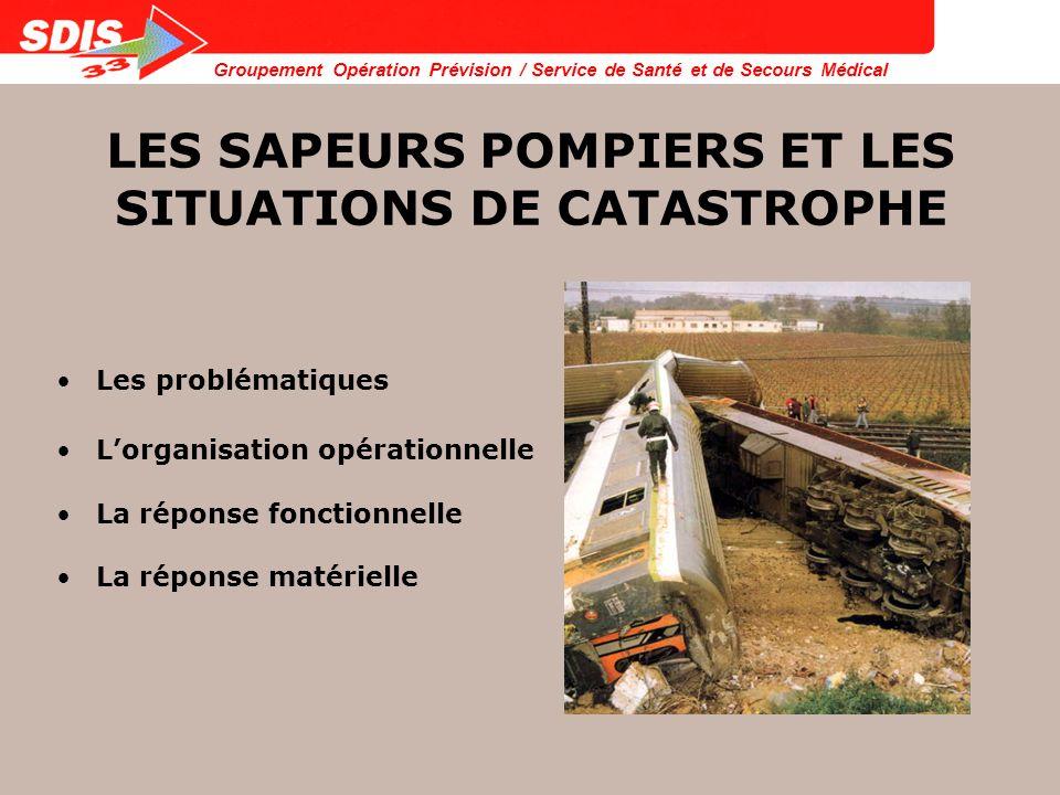 LES SAPEURS POMPIERS ET LES SITUATIONS DE CATASTROPHE