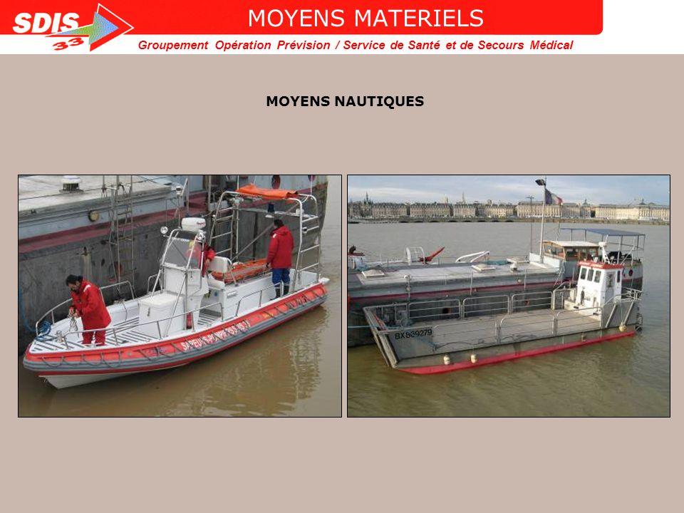 MOYENS MATERIELS MOYENS NAUTIQUES