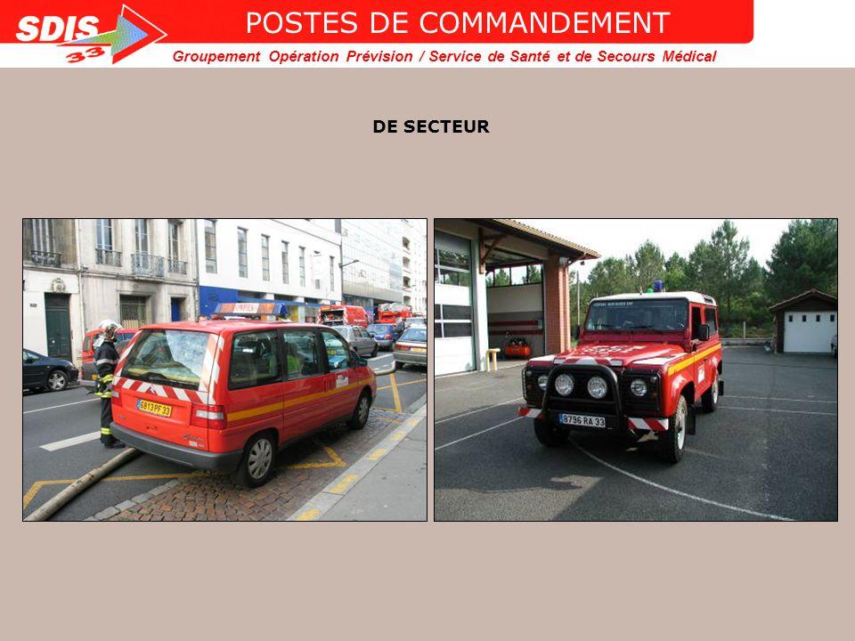 POSTES DE COMMANDEMENT