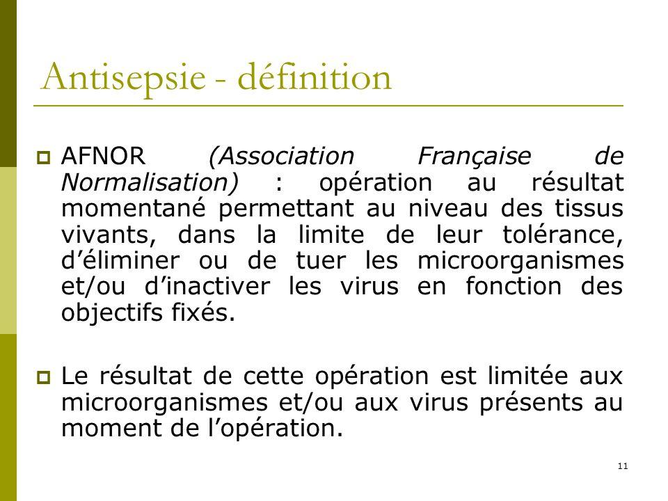 Antisepsie - définition