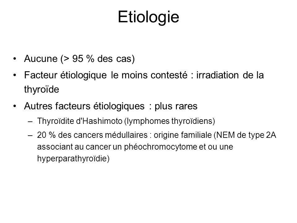 Etiologie Aucune (> 95 % des cas)