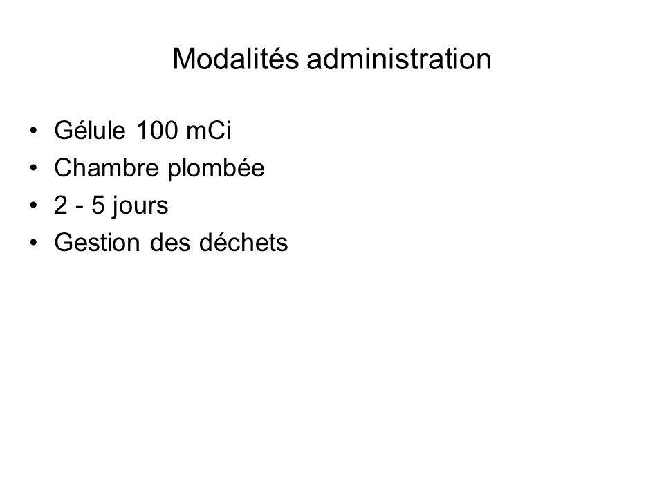 Modalités administration