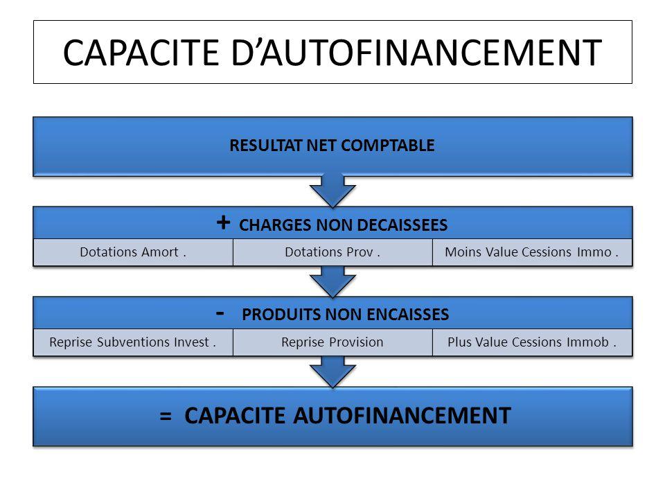 CAPACITE D'AUTOFINANCEMENT