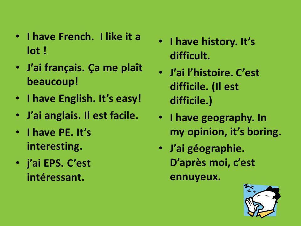 I have French. I like it a lot !