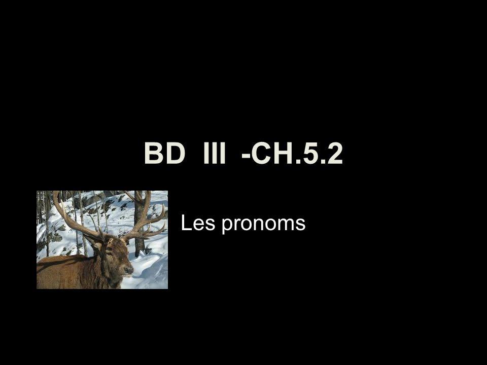 BD III -CH.5.2 Les pronoms