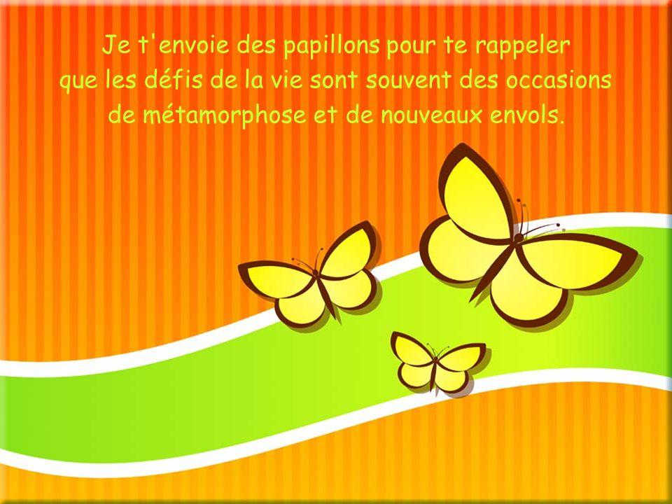 Je t envoie des papillons pour te rappeler que les défis de la vie sont souvent des occasions de métamorphose et de nouveaux envols.