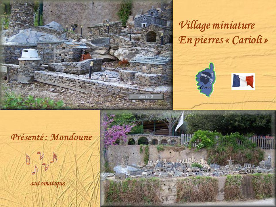 Village miniature En pierres « Carioli » Présenté : Mondoune