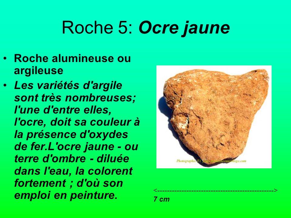 Roche 5: Ocre jaune Roche alumineuse ou argileuse