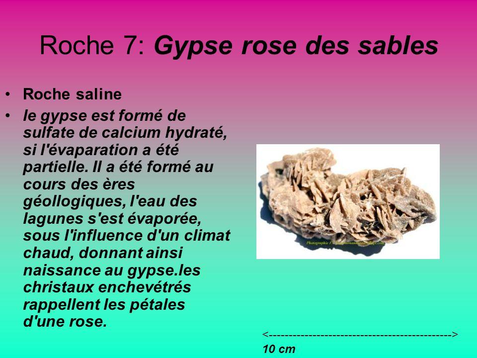 Roche 7: Gypse rose des sables