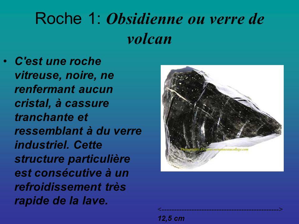 Roche 1: Obsidienne ou verre de volcan