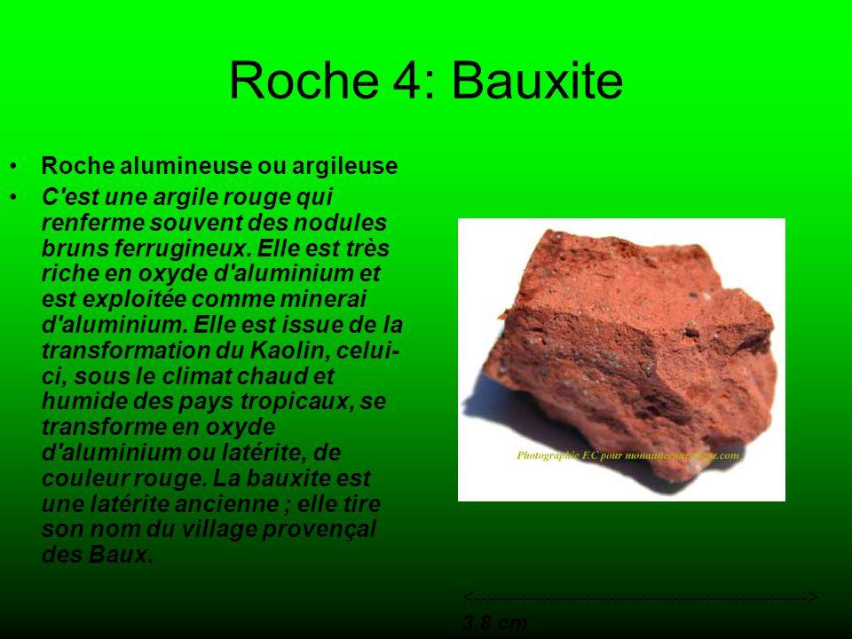 Roche 4: Bauxite Roche alumineuse ou argileuse