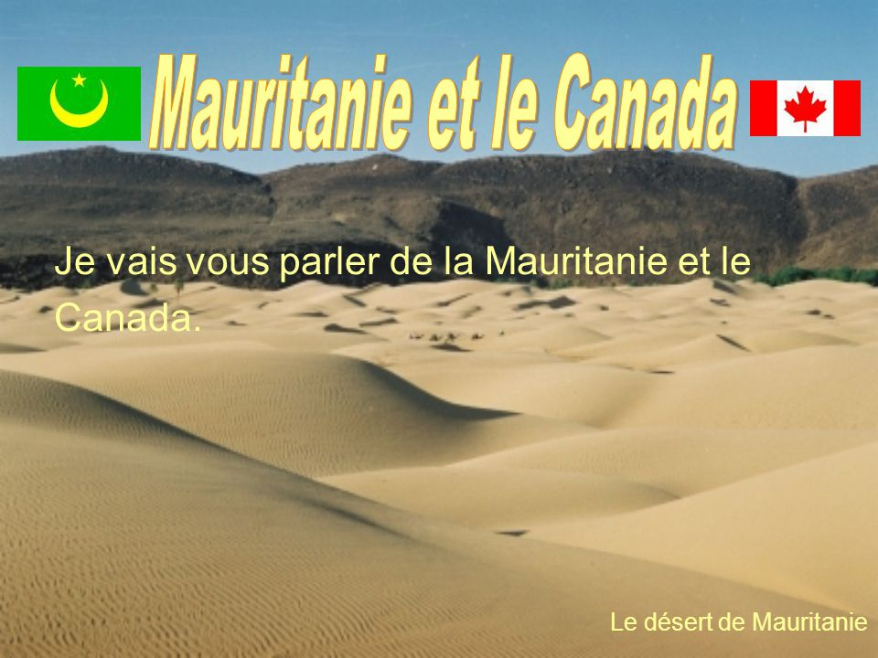 Mauritanie et le Canada