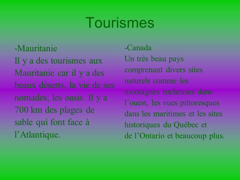 Tourismes -Mauritanie Il y a des tourismes aux