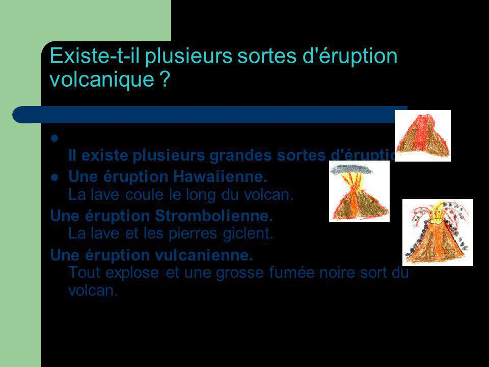 Existe-t-il plusieurs sortes d éruption volcanique