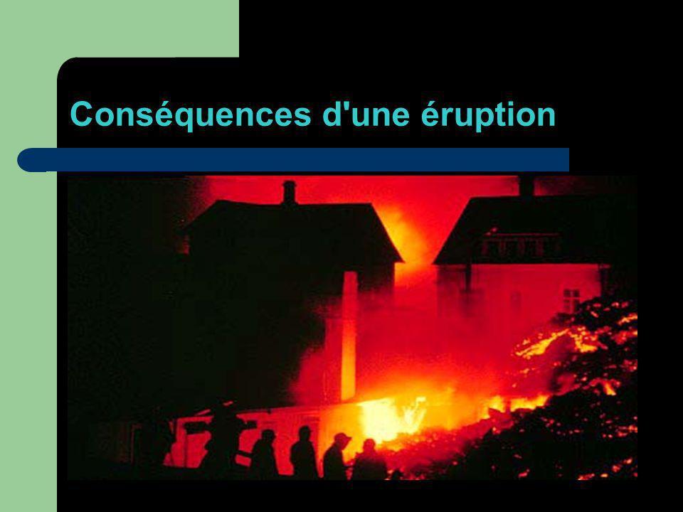 Conséquences d une éruption