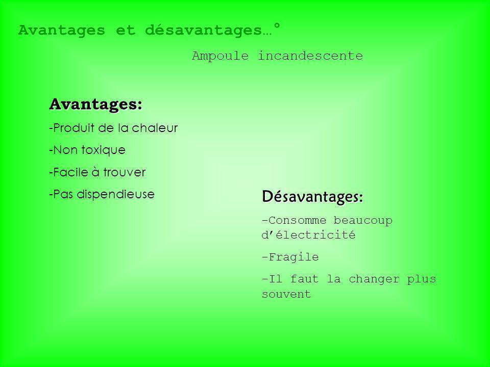 Avantages et désavantages…°