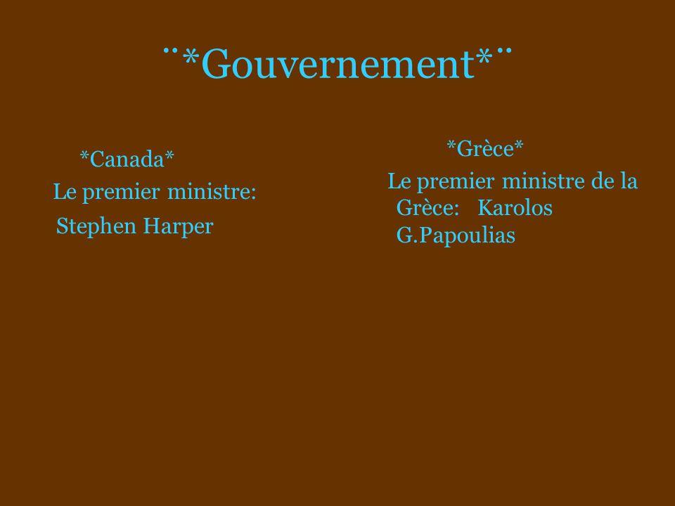 ¨*Gouvernement*¨ *Grèce* *Canada*