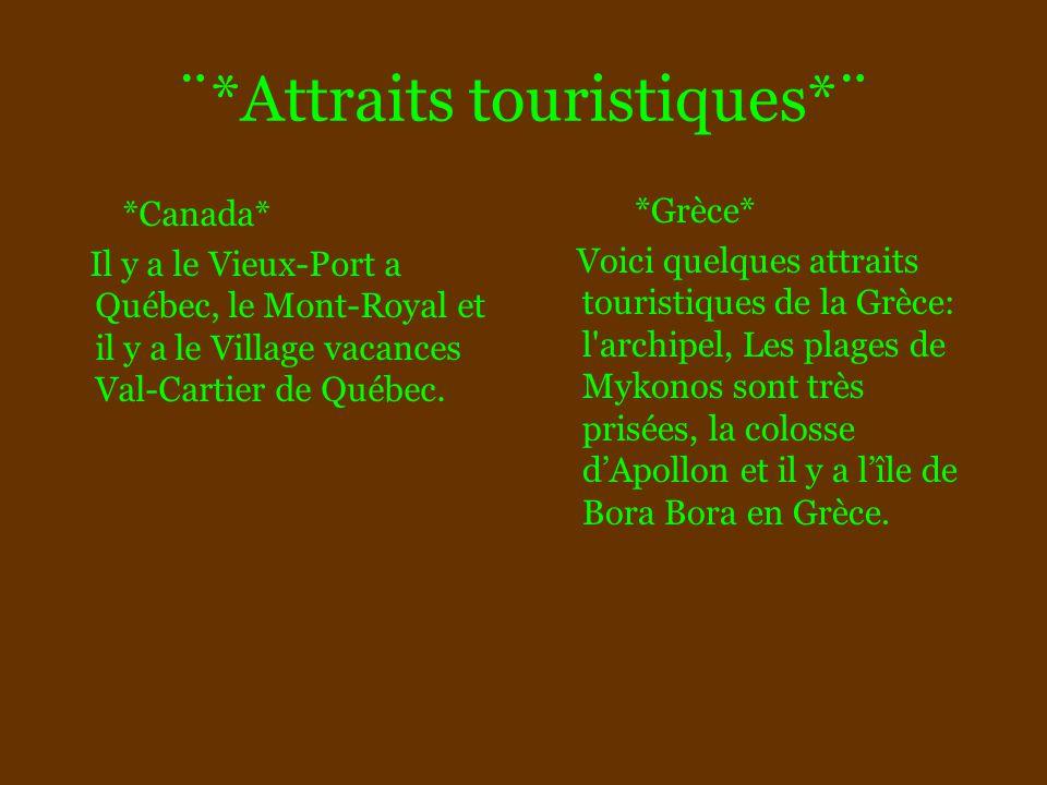 ¨*Attraits touristiques*¨