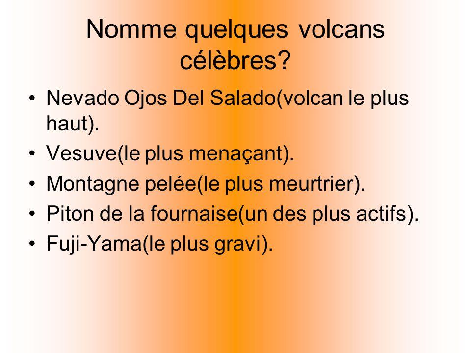 Nomme quelques volcans célèbres