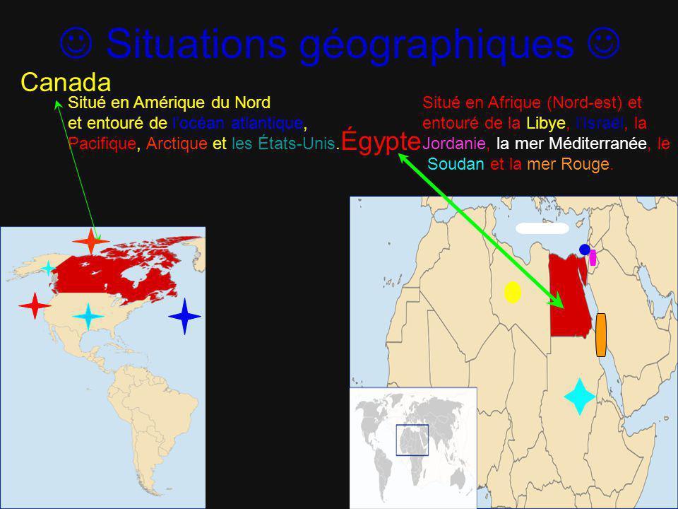  Situations géographiques 