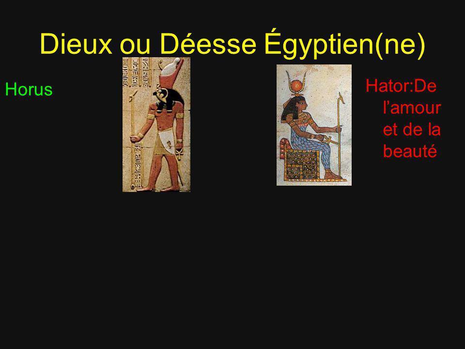 Dieux ou Déesse Égyptien(ne)