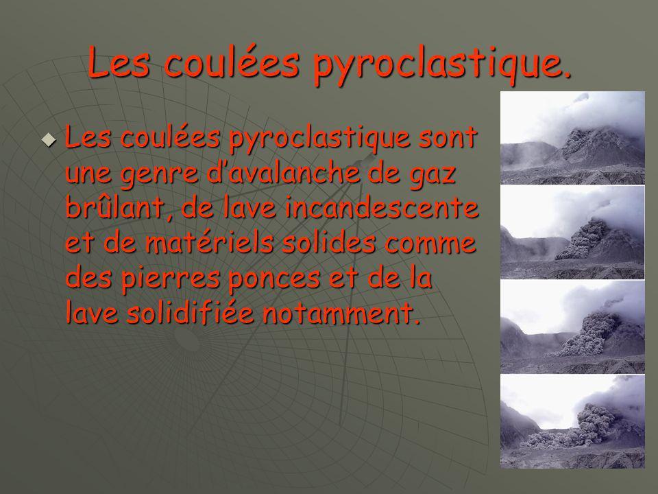 Les coulées pyroclastique.
