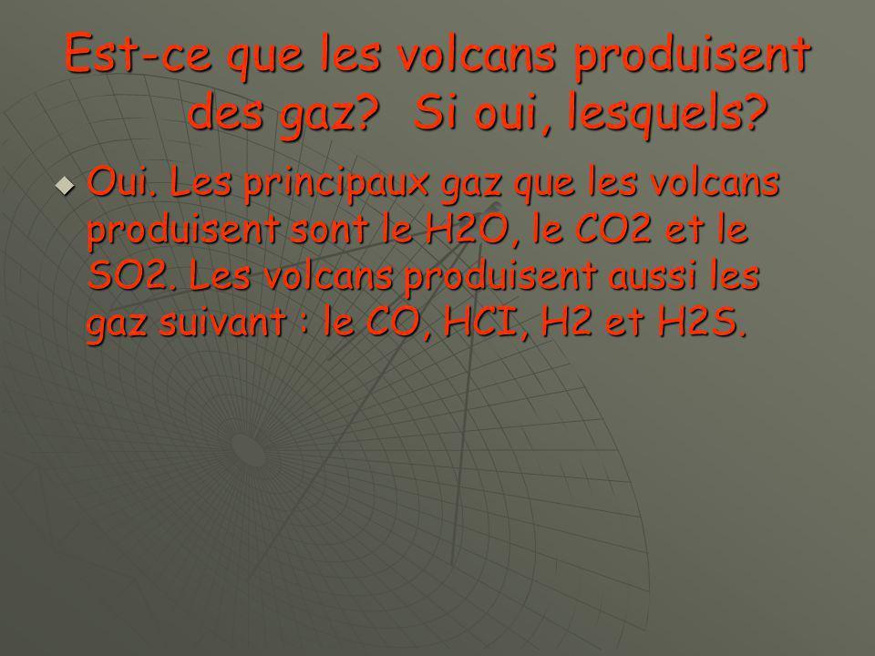 Est-ce que les volcans produisent des gaz Si oui, lesquels