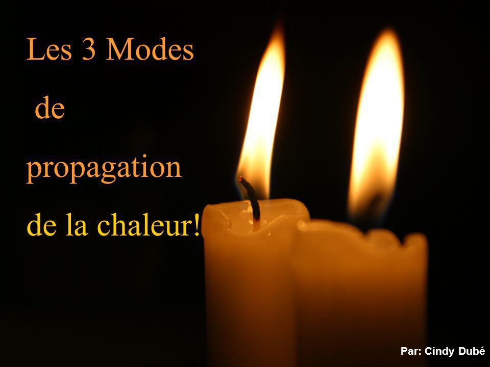 Les 3 Modes de propagation de la chaleur! Par: Cindy Dubé