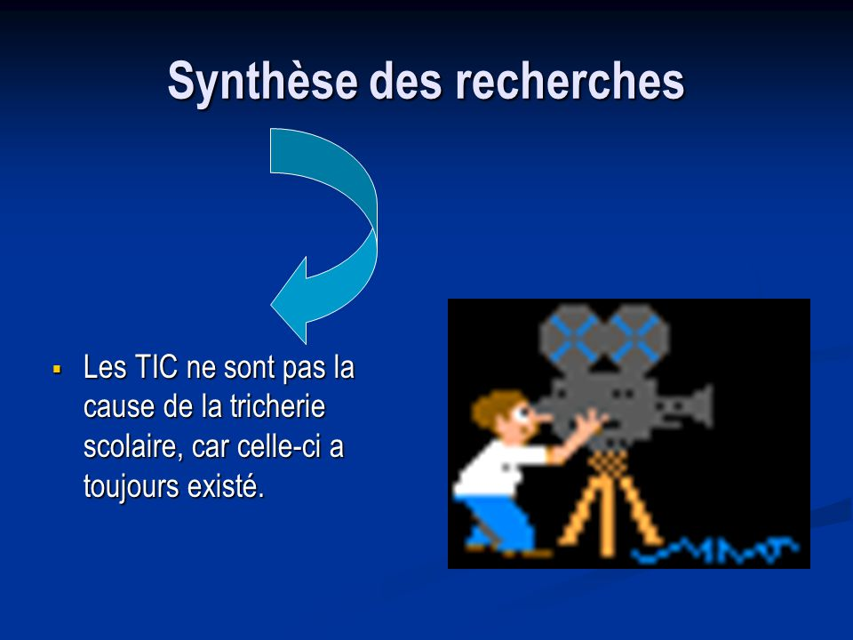 Synthèse des recherches