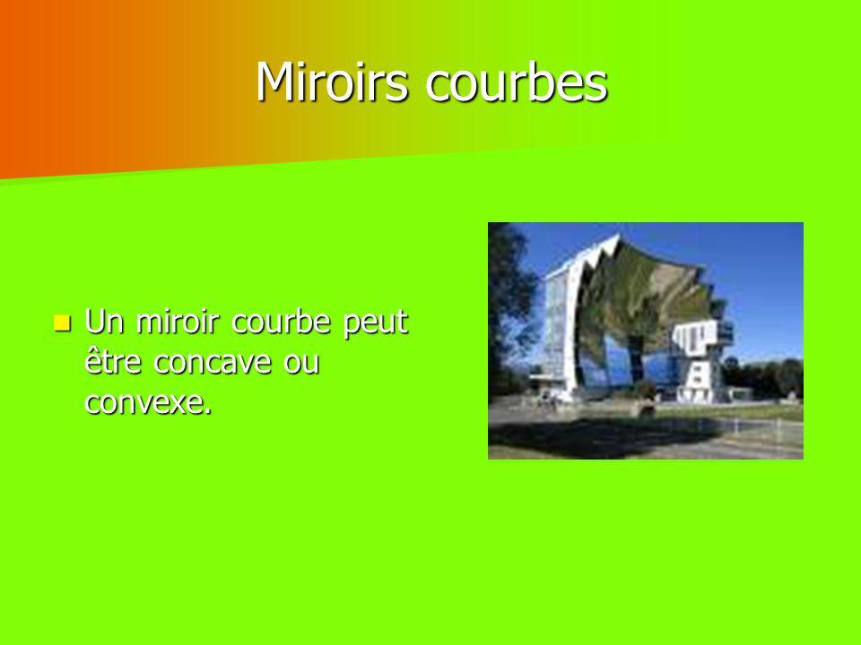 Miroirs courbes Un miroir courbe peut être concave ou convexe.