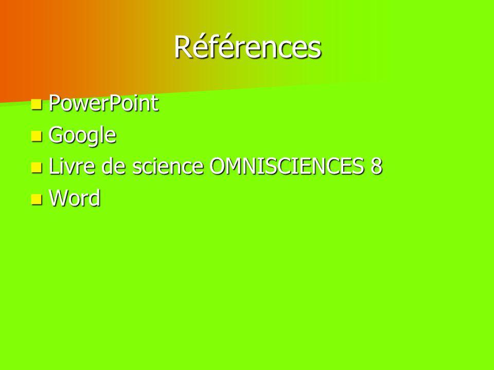 Références PowerPoint Google Livre de science OMNISCIENCES 8 Word