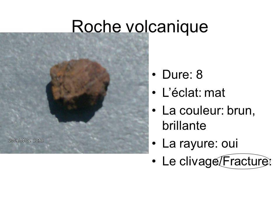 Roche volcanique Dure: 8 L'éclat: mat La couleur: brun, brillante