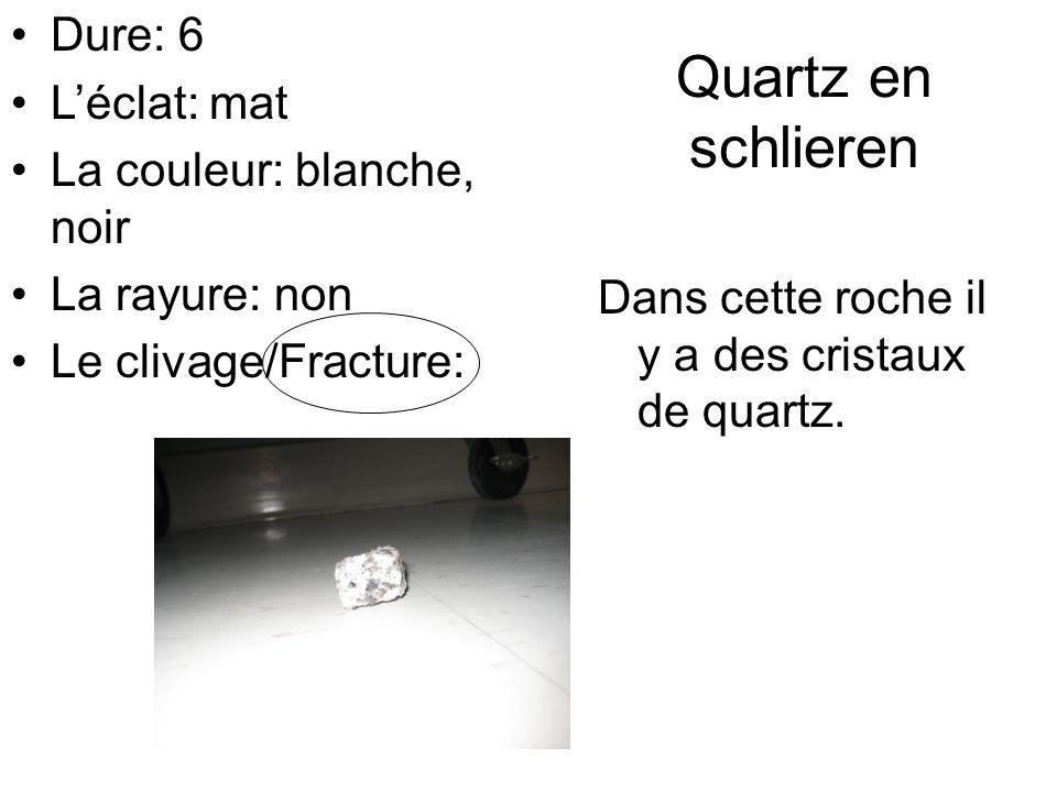 Quartz en schlieren Dure: 6 L'éclat: mat La couleur: blanche, noir