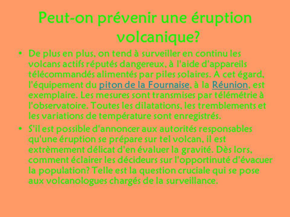 Peut-on prévenir une éruption volcanique