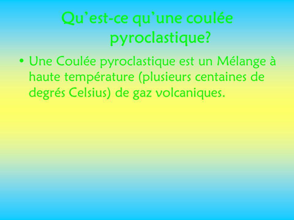 Qu'est-ce qu'une coulée pyroclastique