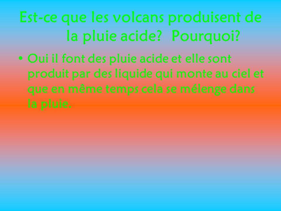 Est-ce que les volcans produisent de la pluie acide Pourquoi