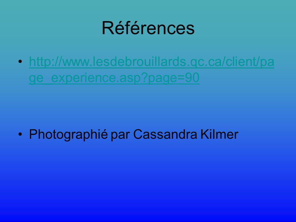 Références http://www.lesdebrouillards.qc.ca/client/page_experience.asp page=90.